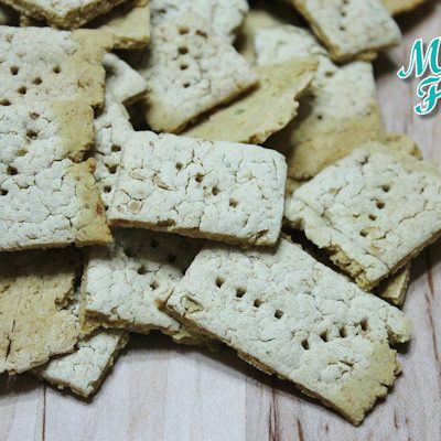 bean crackers - gluten free white bean crackers