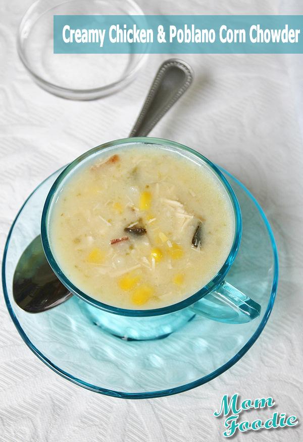 chicken and poblano corn chowder recipe