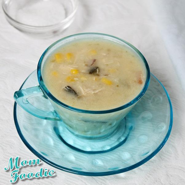 creamy chicken poblano corn chowder