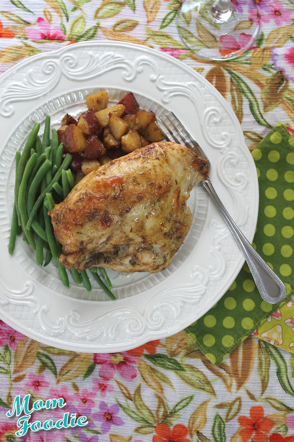 roast chicken and potatoes recipe