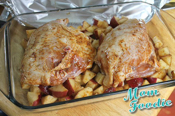 roasting chicken breast  with potatoes