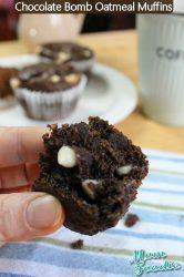 chocolate bomb oatmeal muffins