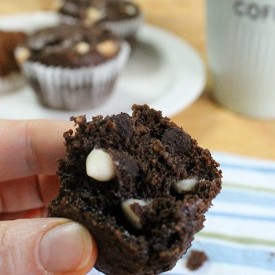 Triple Chocolate Bomb Oatmeal Muffin Recipe #YayOats