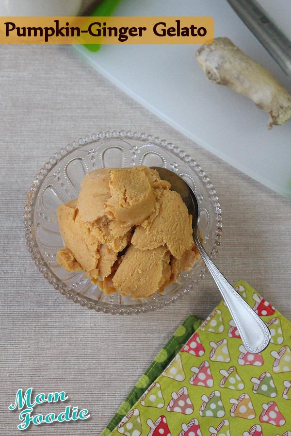 pumpkin ginger gelato