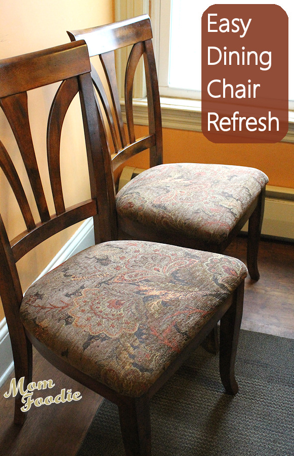 Reupholster Dining Chairs: Easy DIY project