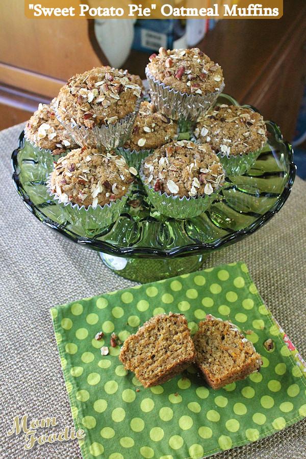sweet potato pie oatmeal muffins