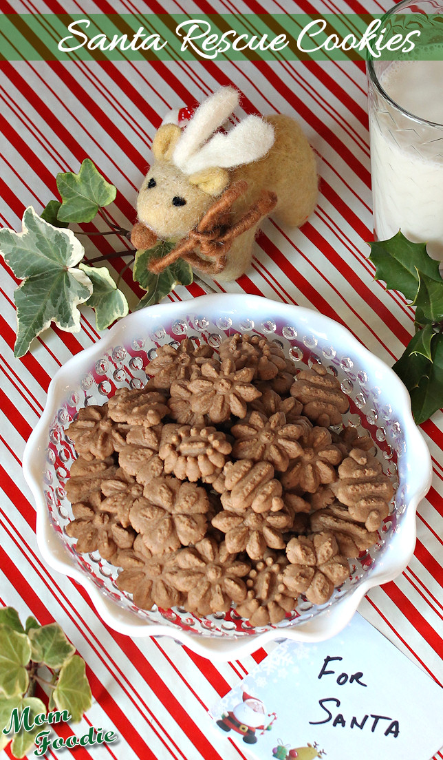 Chocolate Peanut Butter Spritz Cookies