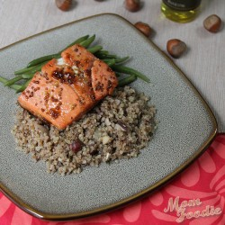 Hazelnut Quinoa Recipe (with Maple Mustard Salmon)