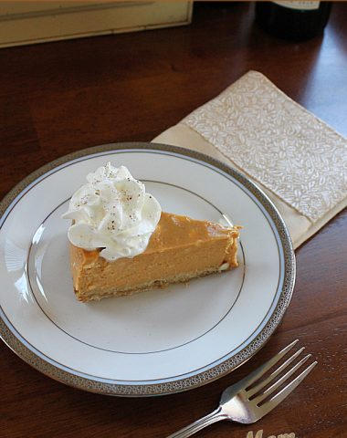 Pumpkin Eggnog cheesecake
