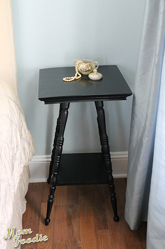 black painted victorian table