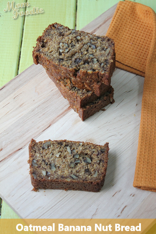 Oatmeal Banana Nut Bread (gluten-free) ~ from Mom Foodie