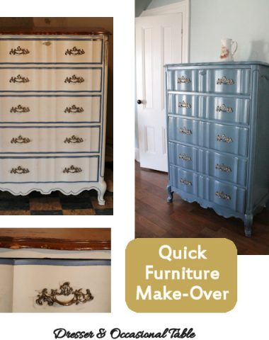 quick dresser spray paint make over