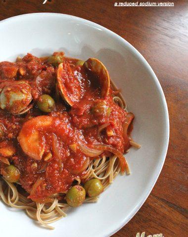 seafood puttanesca reduced sodium