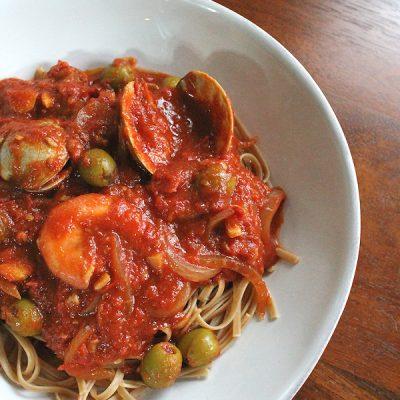 Seafood Puttanesca Recipe: A Reduced Sodium Version
