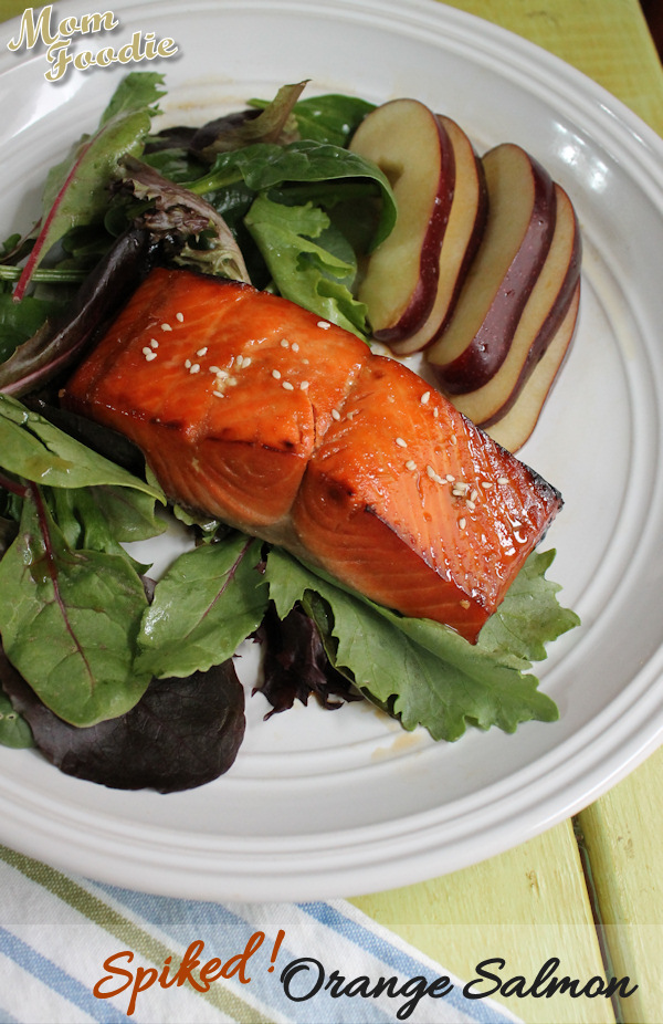 spiked orange salmon