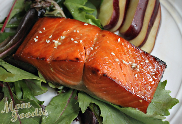 whiskey  orange glazed salmon