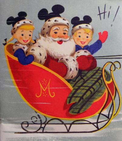 Vintage Disney Santa