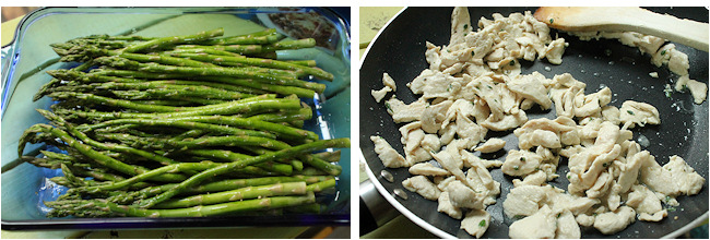 chicken and asparagus for lasagna