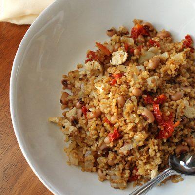 Recipe for One: Chicken, Black Eyed Pea & Sun-Dried Tomato Bulgur
