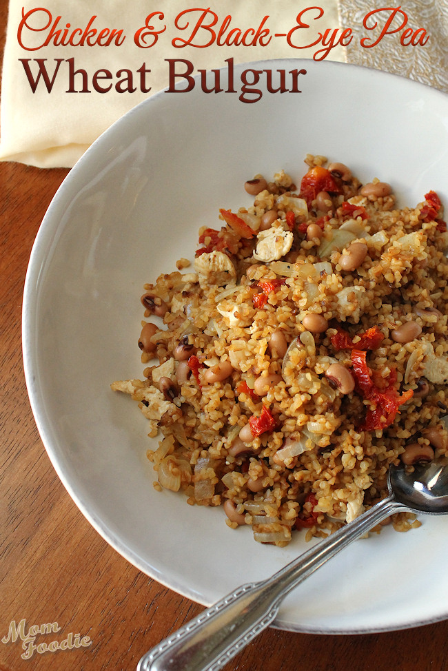 Chicken Bulgur with Black-Eyed Peas and Sun-Dried Tomatoes