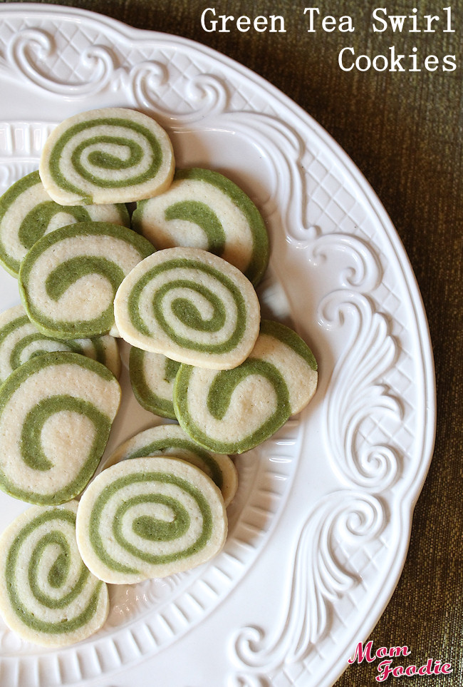 green tea swirl cookies