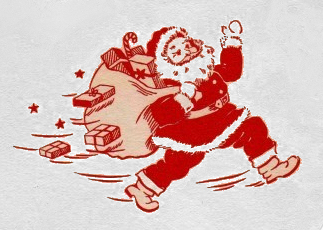 Little Vintage Santa with Bag