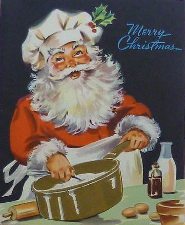 Vintage Santa Cooking