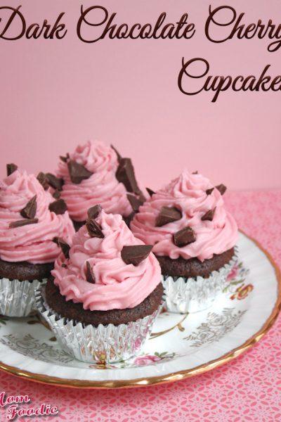 dark chocolate cherry cupcakes