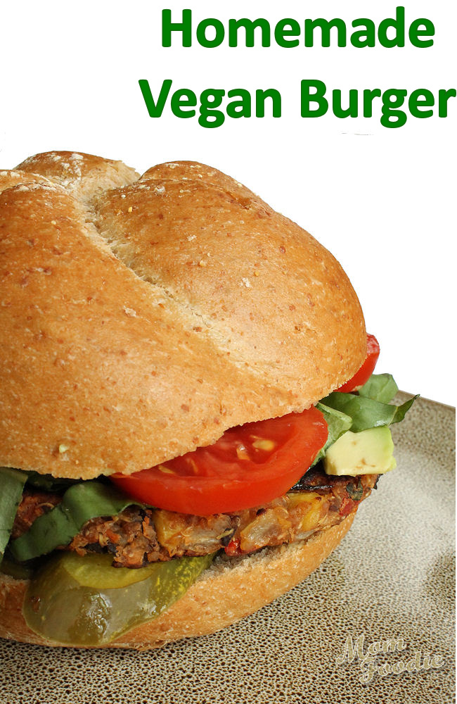 homemade vegan burger recipe