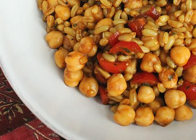 Spiced Kamut and Chick Pea Salad Recipe