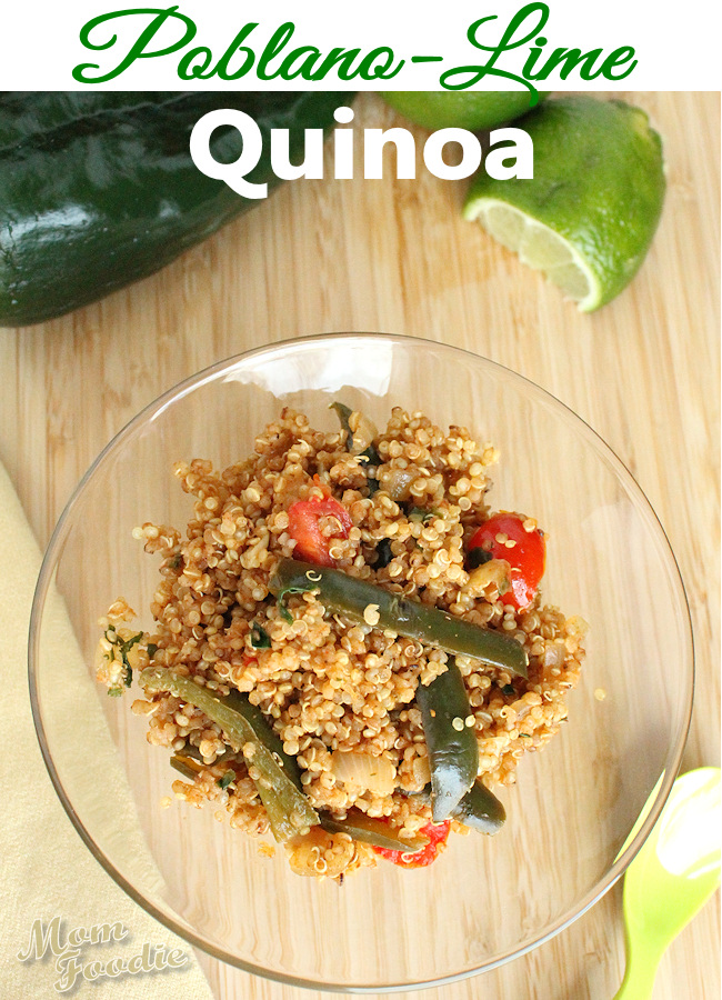 poblano lime quinoa recipe