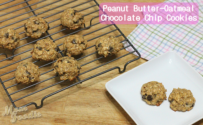 Peanut Butter-Oatmeal Chocolate Chip Cookies