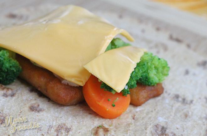 cheesy fish chimichanga