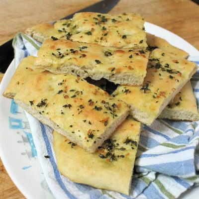 Disappearing Garlic Focaccia Bread Recipe