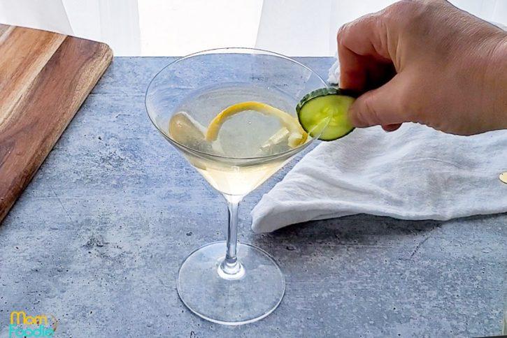 garnish the St Germain vodka cocktail