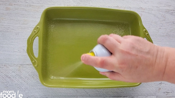 coating with cooking spray