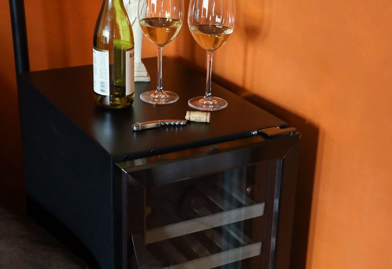 compact wine fridge