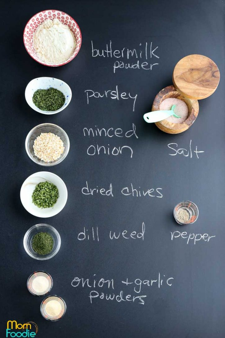 Ranch Mix Ingredients