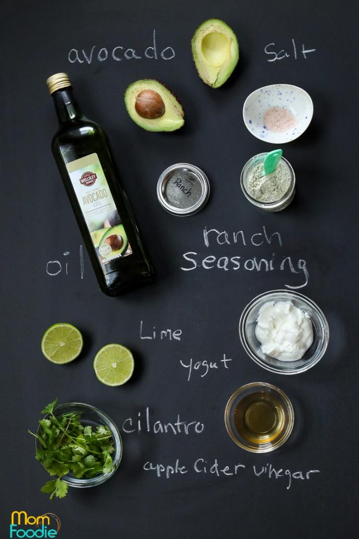 avocado ranch Ingredients