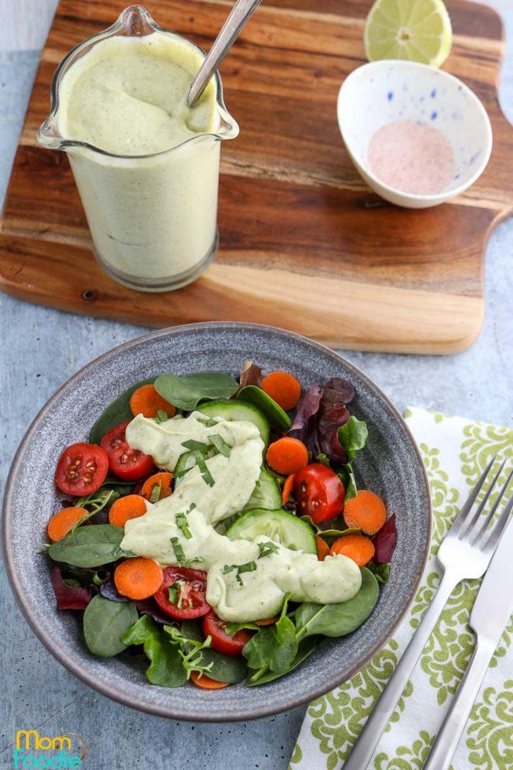 avocado lime ranch salad dressing recipe