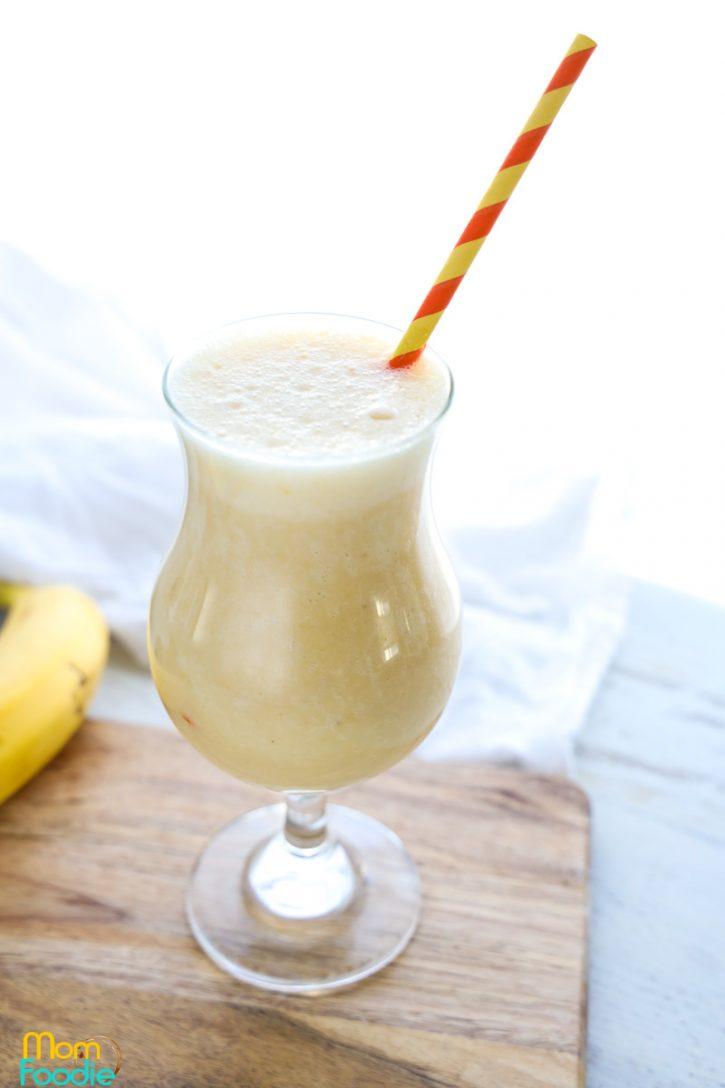 banana peach smoothie