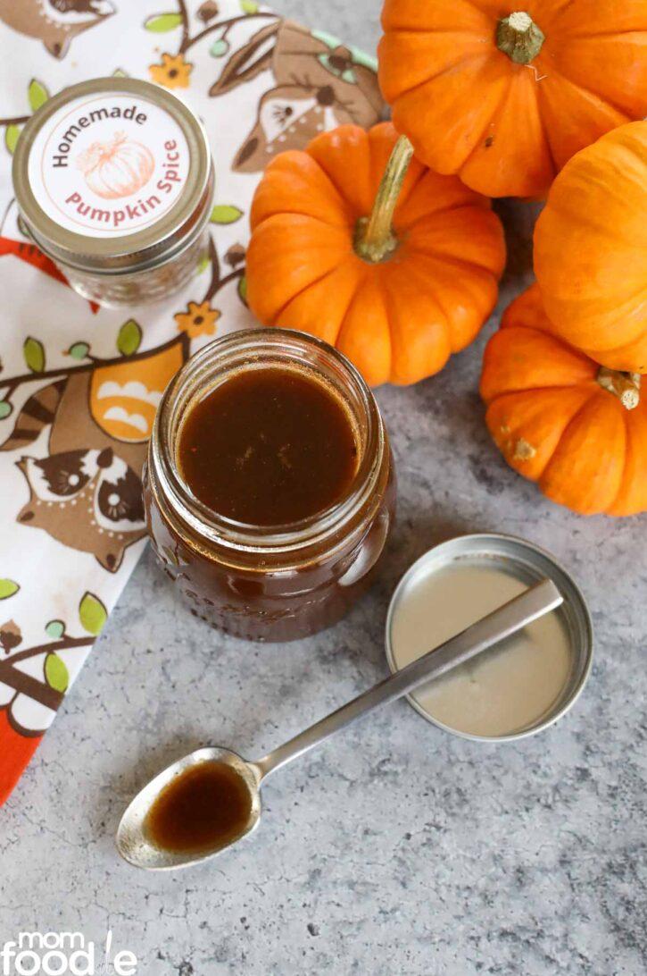 Starbucks Pumpkin spice syrup copycat recipe.