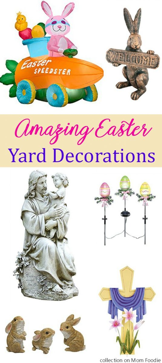 Amazing Easter Yard Decorations - these outdoor Easter decorations will make your home welcoming.