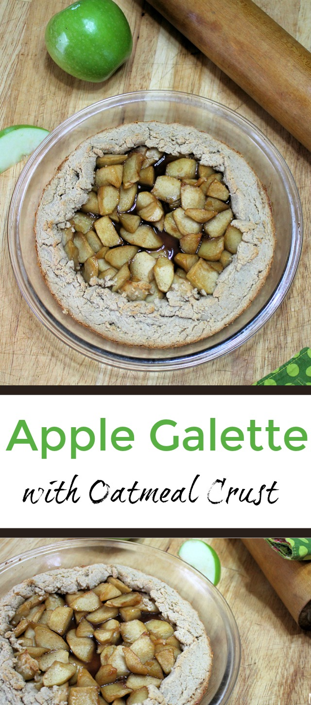Apple Galette with Oatmeal Crust