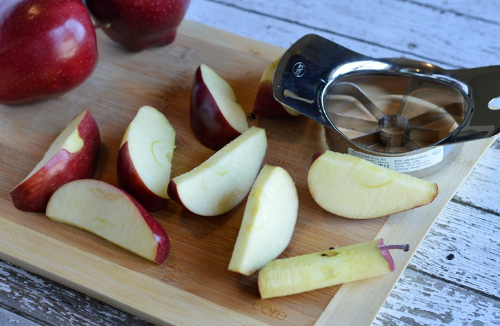 Apple Peanut Butter Teeth - apple slices