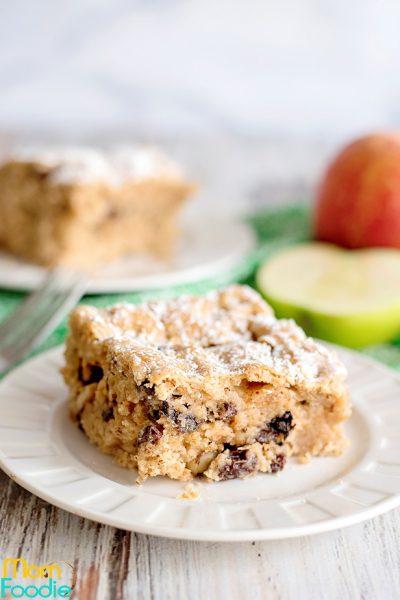 Applesauce cake with raisins