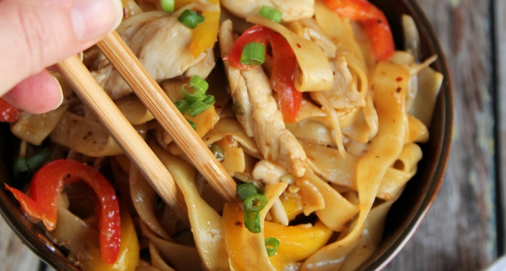 Asian Noodles and Chicken Recipe