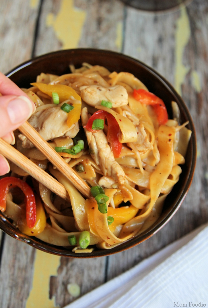 Asian Noodles with Chicken and Vegetables Recipe