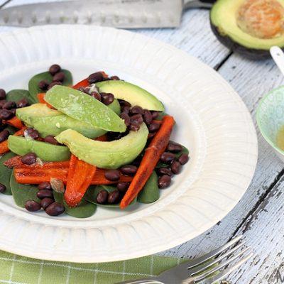 Smokey Roasted Carrot, Avocado & Black Bean Salad Recipe