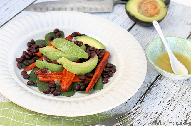 Avocado Roasted Carrot & Black Bean Salad